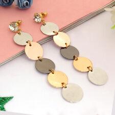 Fashion Round Disk Drop Ear Jewelry Fashion Dangle Women Earring For Anniversary