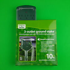 Merry Brite 3 Outlet Ground Stake 10ft