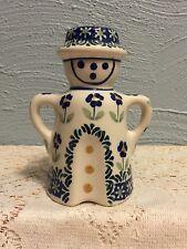 Salt Shaker Made in Poland Ceramic Art Pottery