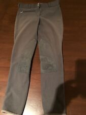 Tuff Rider Riding Pants, Knee Patch, Size 28, Charcoal Grey