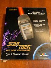 1997 Star Trek The Next Generation Type 1 Phaser Mouse Windows Computer Vintage