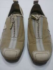 Womens Merrell Barrado Sport leather canvas zip performance shoes size 6.5 beige