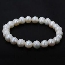 Elegent Freshwater Pearl Bracelet Stretch Girls Bridal Bangle Wedding Jewellery