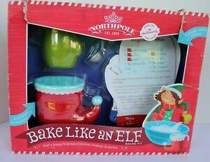 Hallmark Northpole Bake Like an Elf Baking Kit Cooking Kids
