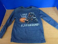 """COLLECTABILITEES~Gray LS DARTH VADER """"I Rule the Playground"""" SHIRT~Boys 4T"""