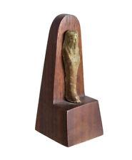 Archaic Egyptian Faience Pottery Shabti figure, Late Period c. 664 - 30 BC?