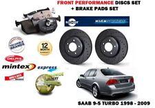 FOR SAAB 9-5 95 2.0 2.3 TURBO 1998> FRONT PERFORMANCE BRAKE DISCS SET + PADS KIT