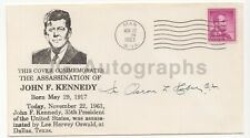 Reverend Oscar L. Huber - Administered JFK Last Rights - Signed JFK FDC