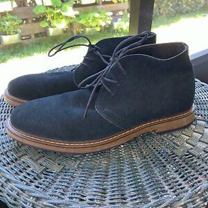 Joseph Abboud  Men's Size 12 Shoes Chukka Boots Lace Up Navy Blue Suede