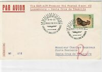 Luxembourg 1962  Airmail Heatwaves Slogan Protect Animals Stamps Cover ref 22744