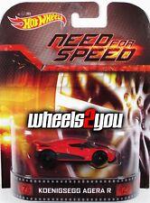 KOENIGSEGG AGERA R Need for Speed - 2014 Hot Wheels Retro Entertainment