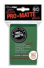 10x PACK of YuGiOh, Small sized PRO-MATTE Ultra-Pro GREEN Card Sleeves 60ct NEW!