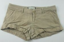 Abercrombie & Fitch Womens Shorts Sz 2 Tan Chinos Khakis Booty Short Casual