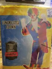 Ring Master Clown Costume Adult Plus Size #273