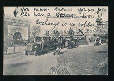 FRANCO-BRITISH Exhibition Railway outside Algerie Pavillion 1908 PPC