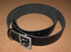 NEUER - POLIZEI - Zweidorn - Ledergürtel / Länge : 110 cm