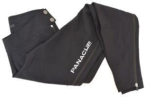 Panache Thermal Warm Up Pants Men XL Black Full Zip Pre Post Race Bike Cycling