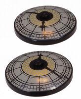 LEGO - 2 x Radar Schüssel 4x4 mit Uhraufdruck Rathaus Uhr rund 3960pb024 NEUWARE