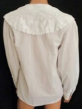 CAMICIA VINTAGE  Shirt TG.38 (M) in Cotone 100% Ricamata a mano bianco COD.A
