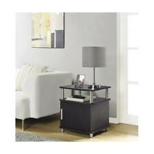 Contemporary End Table Modern Living Room Accent Storage Cabinet Sofa Side Stand