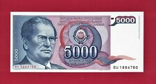 TITO = YUGOSLAVIA's BEST PRESIDENT - UNC BANKNOTE: 5,000 DINARA 1985 - (P-93a)