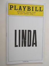February 2017 - Manhattan Theatre Club Playbill - Linda - Janie Dee