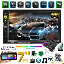 7inch HD 2DIN  Bluetooth Car Stereo Radio Touch Screen MP5 Player + Rear Camera