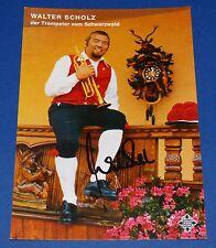 Autogrammkarte Walter Scholz - Telefunken - mit Signatur