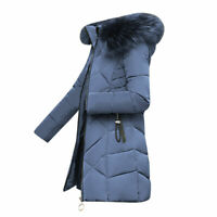 Winter Womens Down Cotton Parka Fur Collar Hooded Coat Quilted Jacket M-3XL  new
