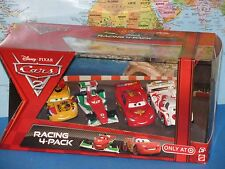 DISNEY PIXAR CARS 2 RACING 4 PACK SHU TODOROKI, BERNOULLI, MIGUEL, McQUEEN VHTF