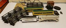 VINTAGE LOT OF AMERICAN FLYER 356 SILVER BULLET 4-6-2 + TRACKS, 2 CARS, SWITCHES