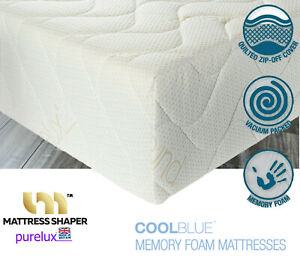 """Cool Blue Memory Foam Mattress PURELUX QUILTED COVER 10""""( 8+2) 5FT KING SIZE"""
