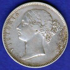 BRITISH INDIA-1840-DIVIDED LEGEND-ONE RUPEE-VICTORIA-TOP GRADE SILVER COIN-2