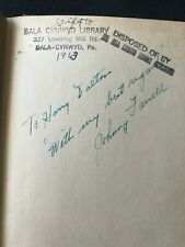 Johnny Farrell 1928 US OPEN CHAMPION GOLF BOOK SIGNED AUTOGRAPHED PSA/DNA D21669