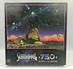 Vintage Schimmel Where are my Brothers Lion Jigsaw Puzzle 750 Piece MB 90's