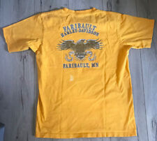 HARLEY DAVIDSON Motorcycle Faribault, Minnesota T-Shirt, Vtg YELLOW Men's Large