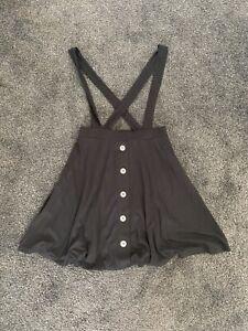 Brand New Black ASOS Skater Skirt With Braces Size 8