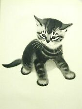 Newberry 1940 Curious Little Kitten Art Print Matted