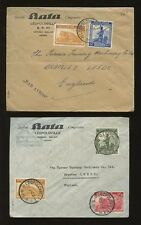 BELGIAN CONGO 1947 ADVERT BATA SHOES...MULTI FRANKINGS...14 stamps on 5 COVERS