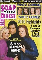 Soap Opera Digest Magazine - December 19, 2000 As the World Turns Year In Review