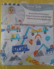 NIP Trend Lab Jersey Fitted Crib Sheet   Construction Digger Design