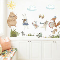 Removable Woodland Animals PVC Cute Wall Stickers DIY Kids Room Nursery Decal