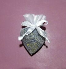 White Organza Heart Certified Organic English Lavender Potpourri Bag 5g