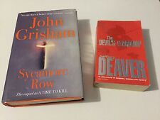 Sycamore Row by John Grisham (Hardback) & The Devil's Teardrop by Jeffrey Deaver