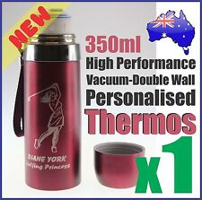 350ml Customised Personalised Thermos Drink Bottle + Logo Laser Engraved Etched