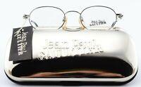 JEAN PAUL GAULTIER Brille 55-0012 46[]19 145 Oval Silver Metal Steampunk Japan M