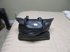 Armani Collezioni Womens Leather Tote Bag Handbag - Black -  Brand New