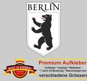 Auto Aufkleber Berlin Wappen Emblem Logo Schrift Sticker Motorrad Autoaufkleber