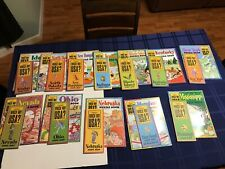 Lot Of 12 Which Way Usa Puzzle Books With Maps