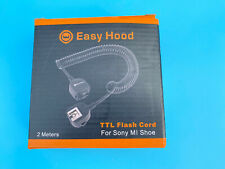 Easy Hood Off Camera Shoe Cord TTL Off Camera Flash Speedlite Cord For Sony